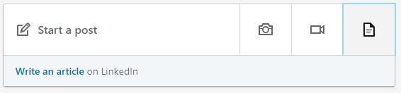 LinkedIn upload document