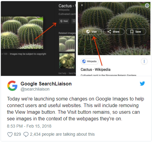 view image button disappeared